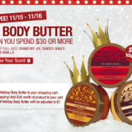 *TODAY ONLY!* The Body Shop: BUY 2, GET 1 Free + Free Shipping + 20% OFF Coupon Code & $1 Body Butter!