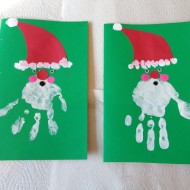 Christmas Craft To Make With Your Kids: Handprint Santa Greeting Card