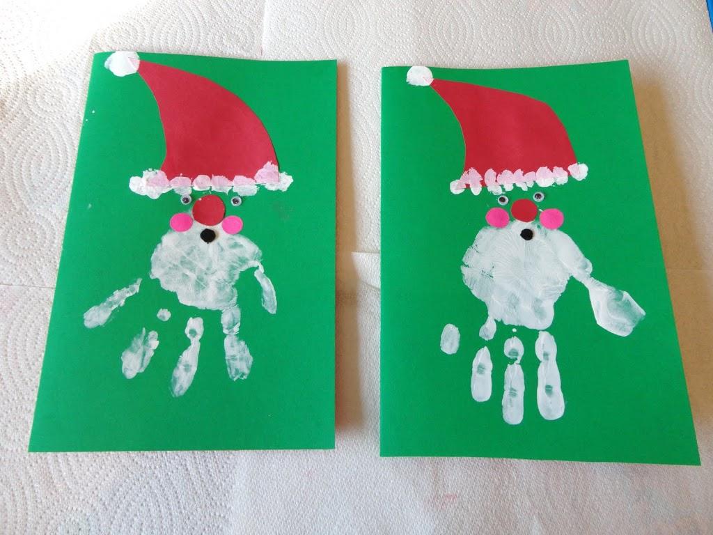 Christmas Craft To Make With Your Kids Handprint Santa Greeting