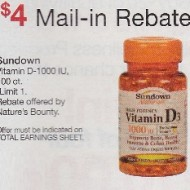 Walgreens: Sundown Vitamin D Money Maker After Mail-In Rebate