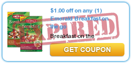 $1.00 off on any (1) Emerald Breakfast on the go
