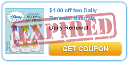 $1.00 off two Daily Renewal Naturals