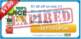 $1.00 off on one (1) Minute Maid Juice Box 10-pk