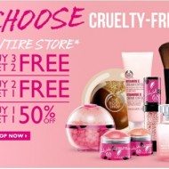 The Body Shop: $10 Off a $20 Purchase Coupon (Valid In-Store & Online, 6/15-6/17)