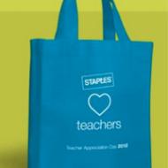Staples Teacher Appreciation Day: FREE Thank You Gift Bag* with Bonus Coupon