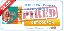 $2.00 off ONE Pampers Baby Dry Diapers