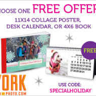 York Photo Holiday Special: FREE 11×14 Collage Poster, Desk Calendar or 4×6 Photo Book (Just Pay Shipping from $1.99 to $3.99)