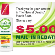 The Natural Dentist Mouth Rinse $5 Mail-in Rebate = Makes It FREE at Walgreens