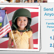 USO/Military: Send a FREE 5×7 Personal Photo Book with 20 Pages + FREE Shipping