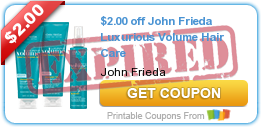 picture relating to John Frieda Coupons Printable identify Ceremony Support: John Frieda Hair Treatment Merchandise As Reduced As Just