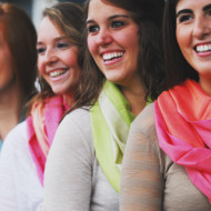 Great Mother's Day Gift Idea:  Reversible Infinity Scarves in Spring Colors, Only $15- Originally $38!
