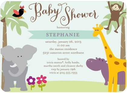 Jungle Themed Baby Shower Invitations for great invitation layout