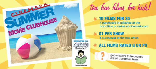 cinemark summer movie clubhouse ten movies for 5 or 1