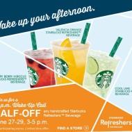 Starbucks: Half Price Refreshers from 3-5PM (Thru 6/29)