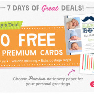 TODAY ONLY at Walgreens: 20 FREE Premium 5×5 Cards (Regularly $30!) – Just Pay $2.99 Shipping