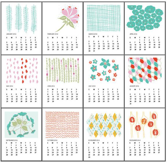 5 Free Printable 2014 Calendars Hip Mamas Place