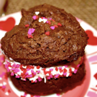 Chocolate Valentine Whoopie Pies