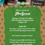 Mrs. Green's Natural Market Grand Opening in Fairfax, Virginia on January 23rd- Mark Your Calendar!