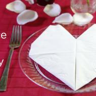 Cute Valentine's Day Idea: Valentine's Day Heart Napkin Fold