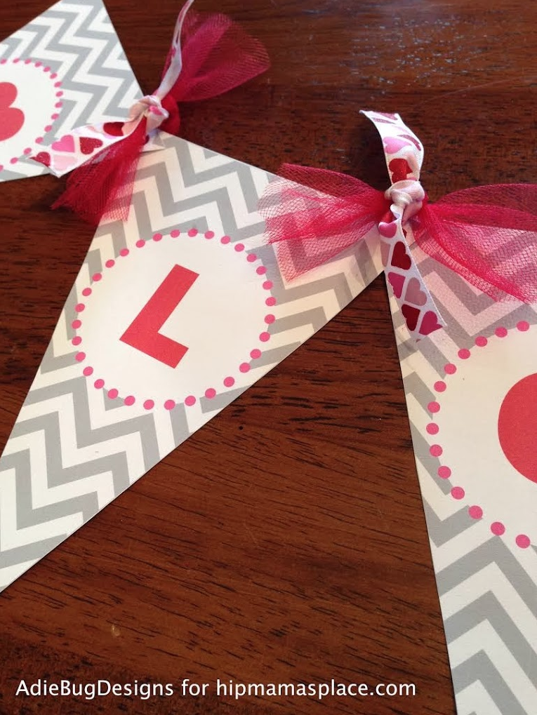 Get these cute and FREE printable DIY Love Banner here!