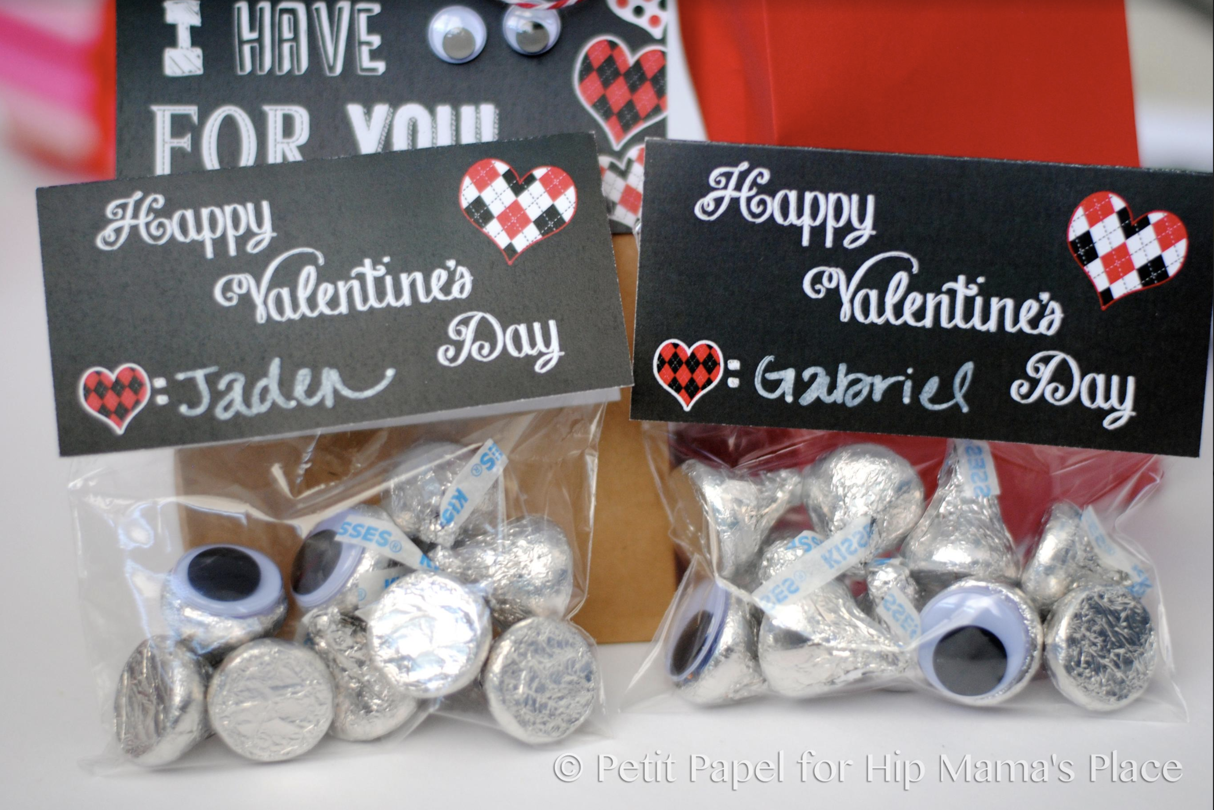 "Print this adorable FREE Printable ""I Have Eyes For You"" Valentine Goody Bag Toppers from Hip Mama's Place!"