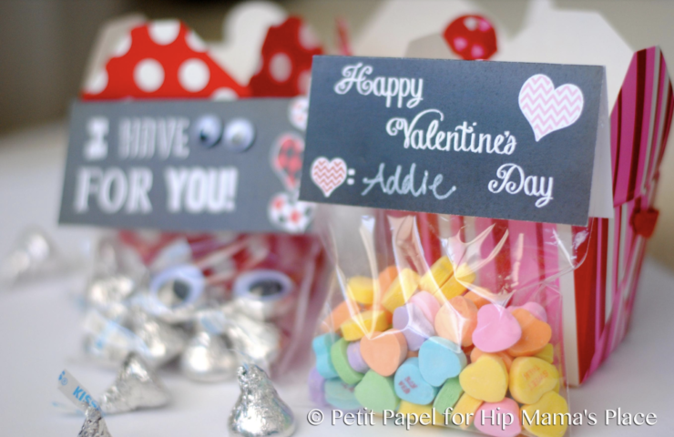 """FREE Printable """"I Have Eyes For You"""" Valentine's Day Gift Bag Toppers"""