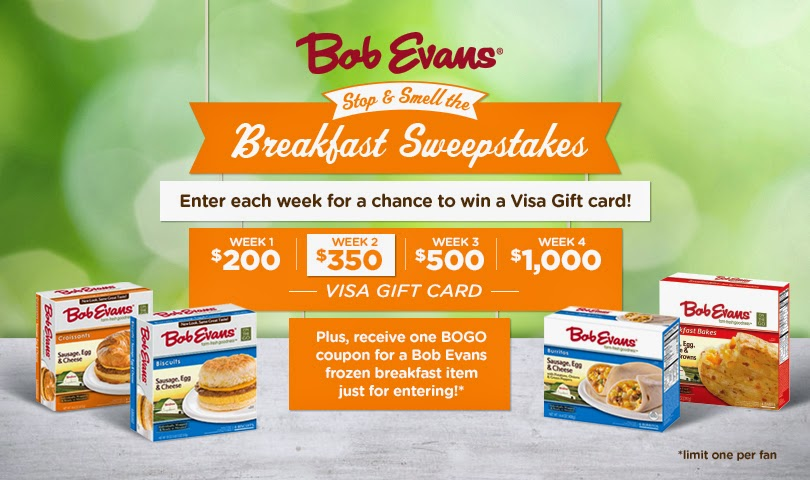 To Celebrate National Frozen Food Month Bob Evans Is Holding A Weekly Sweepstakes Called Stop Smell The Breakfast Now Through April 11 2014