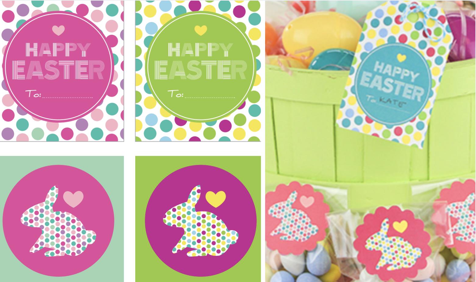 Free printable Easter basket gift tags