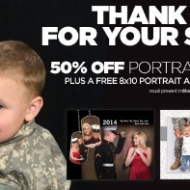 JC Penney: Free 8×10 Photo Portrait for Military Families