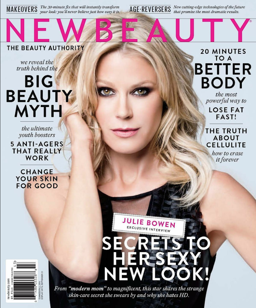 modern mom julie bowen graces cover of newbeauty magazine summerfall 2014 issue
