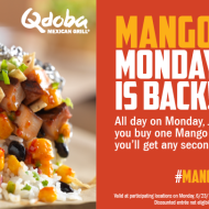 TODAY ONLY (6/23) Deals from Qdoba Mexican Grill and Carl's Jr and Hardee's = Cheap Lunch Ideas!