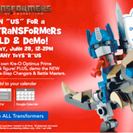 ToysRUs: FREE Transformers Build and Demo Event on 6/28