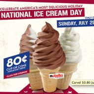 Carvel Ice Cream: $0.80 Junior Cups or Cones on July 20th