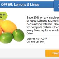 SavingStar: 20% Cash Back on Single Purchase of Lemons & Limes + DIY Lemon Face Toner Recipe