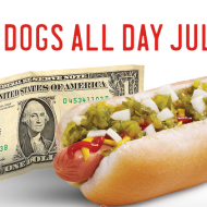 Sonic Drive-In: $1 Hot Dog All Day on July 23rd