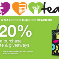 For Teachers: Save 20% + Get a Free Reusable Tote at Office Depot/Office Max in August
