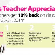 Walmart Teacher Appreciation Week: Teachers Get 10% Savings on Classroom Supplies (July 25-31)