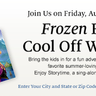 Frozen Friday: Cool Off with Olaf at Barnes & Noble Tonight (August 1st at 7 PM)