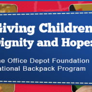 2014 Office Depot Foundation National Backpack Program Helps Children Start School On The Right Foot