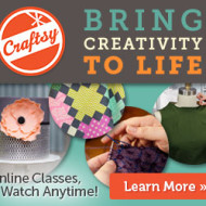 Craftsy: 50% Off All Online Craft Classes (Thru 8/11 ONLY)