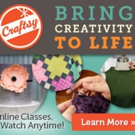 Craftsy.com: FREE & Discounted Online Classes + Select Sewing Kits, Fabric, & Yarn Up to 70% Off!