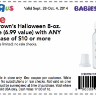 BabiesRUs & ToysRUs: FREE Dr. Brown's Halloween Bottle with ANY $10 Purchase + Baby's First Halloween Event at BabiesRUs on 10/18