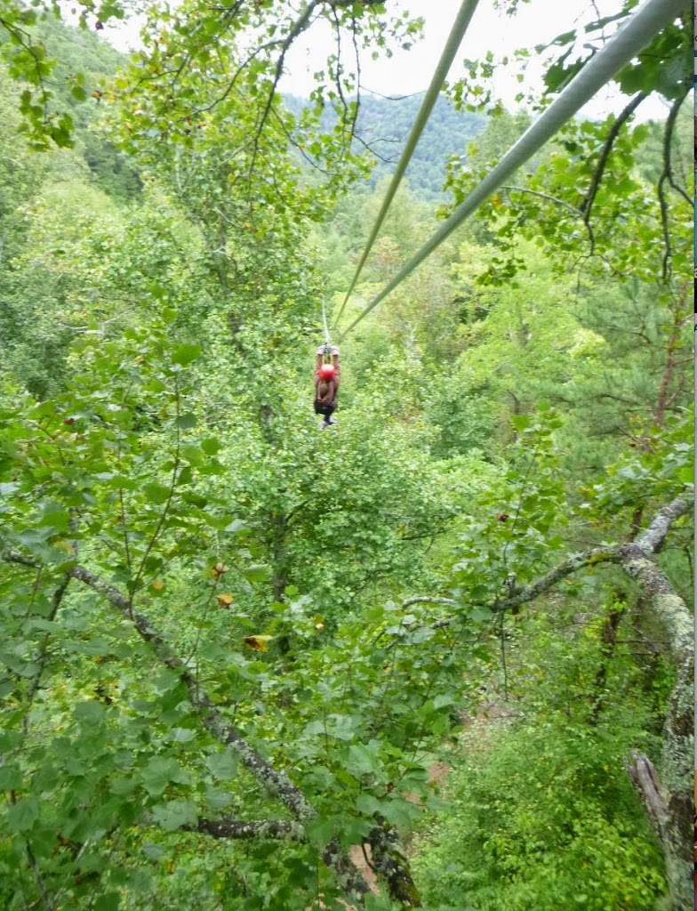 And Yup This Was Me Dangling On A 200 Ft Zipline I Literally Cloud 9