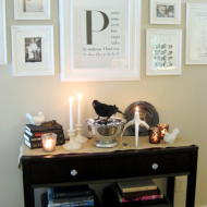 DIY Home Decor Idea: Framed Monogram + Coupons to Save Money on Craft Projects