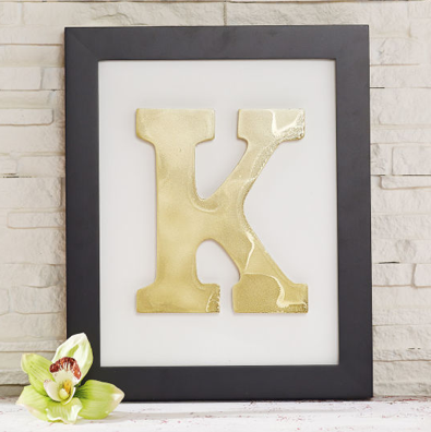 DIY Home Decor Idea: Framed Monogram + Coupons to Save Money on ...