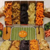 Super Bowl Game Party Ideas: How To Make A Pile High Snack Stadium + Fun Party Decorating Tips