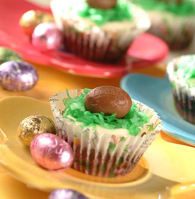 Easter Brownie Cupcakes