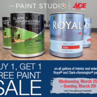 Paint Sale at Ace Hardware + $5 Off $50 Coupon from Home Depot