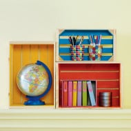 Cute Storage Idea: Painted Crates + Craft Store Coupons for the Week