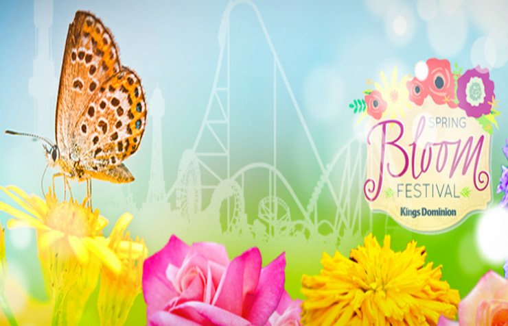 "Kings Dominion ""Spring Bloom Festival"" and Our Recent Family Visit  {My Review}"
